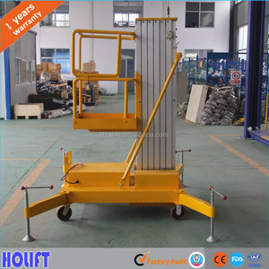 CE certification 5m mobile electric aluminum man lift/electric lift ladder