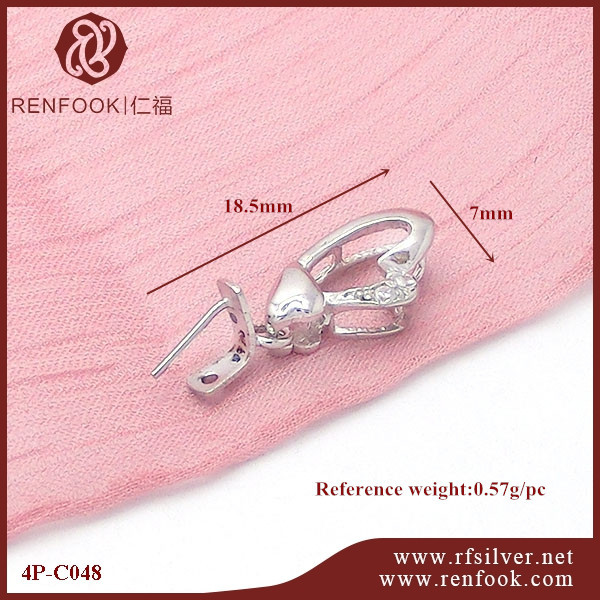 RenFook factory direct sale 925 sterling silver pin pendant clasp for ornament