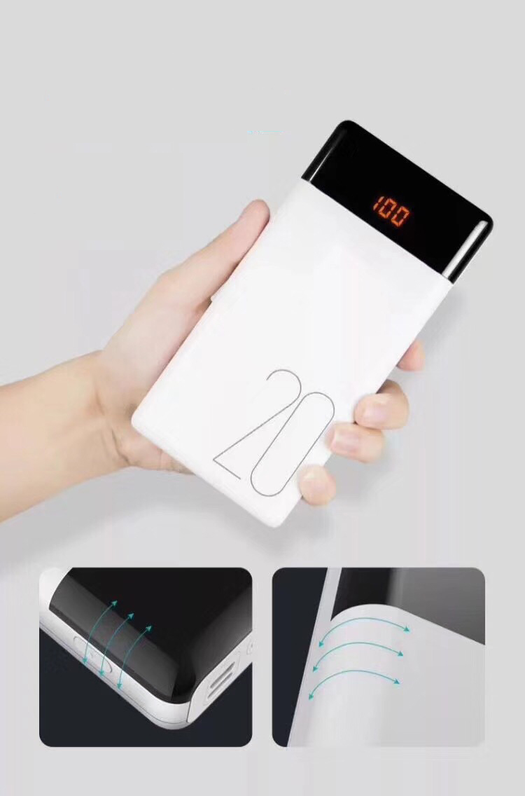 Best Selling High Capacity Power Bank Portable Charger Power Banks 20000mAh with Digital Screen from China