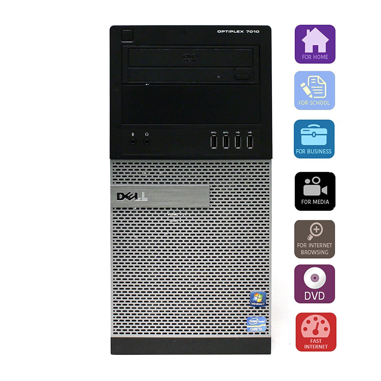 Dell OptiPlex 7010 SMT Intel i5-3570 3.40GHz/ 4GB RAM/ 250GB HDD/ Win7 Computer Desktop