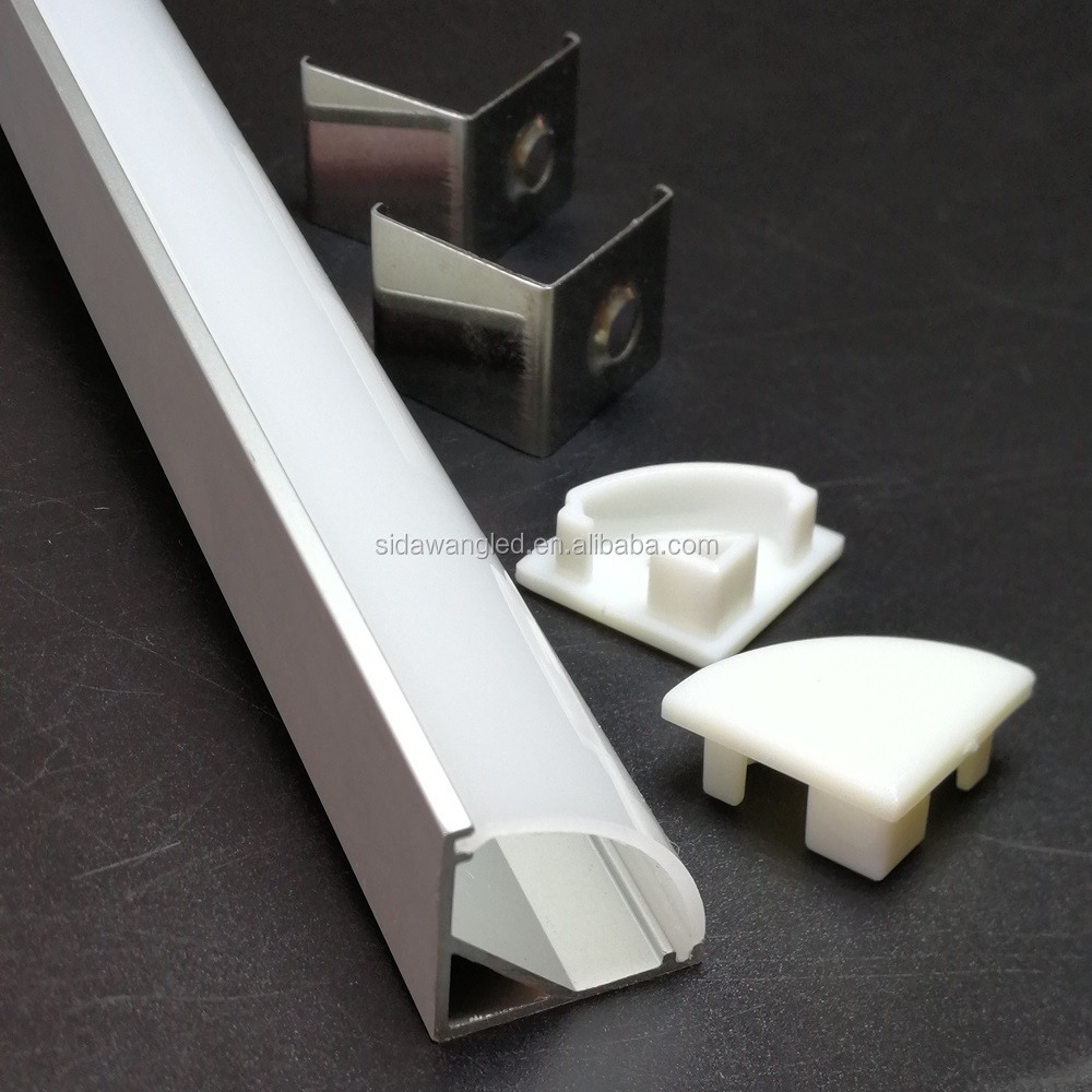 80Set(200meter/pack),2.5M Corner mount V shape Led aluminum profile for led strip,45degree led aluminum channel SDW002