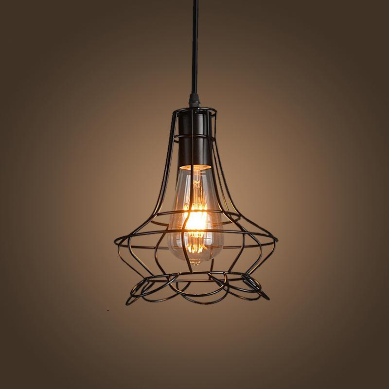 Buy E27 Industrial Retro Pulley Pendant Light Restaurant