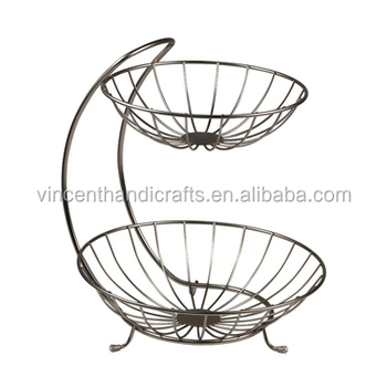 Diversified Yumi Fruit Stand Two Tiered Baskets For Home Everyday