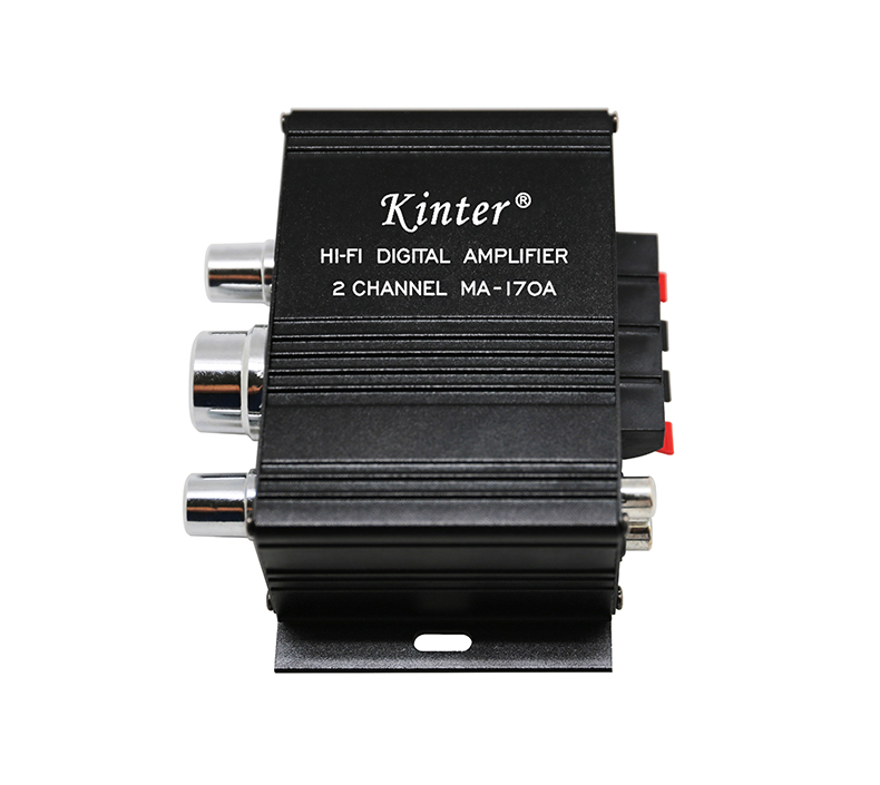 kinter MA-170A black digital  motorcycle mini personal sound audio amplifier with BT 12v 2ch car Treble Bass use by phone APP