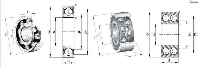 high quality 608 deep groove ball bearing / cojinete de bolas
