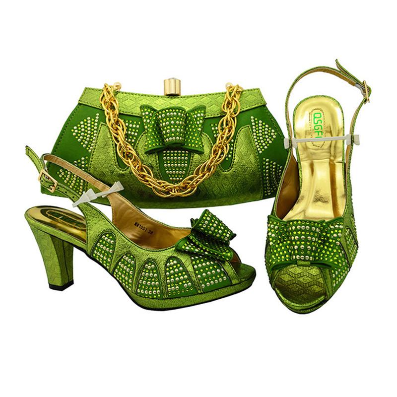 italian fashion and Guangzhou women wholesale set Sinyafashion matching bag shoe TWBIAA