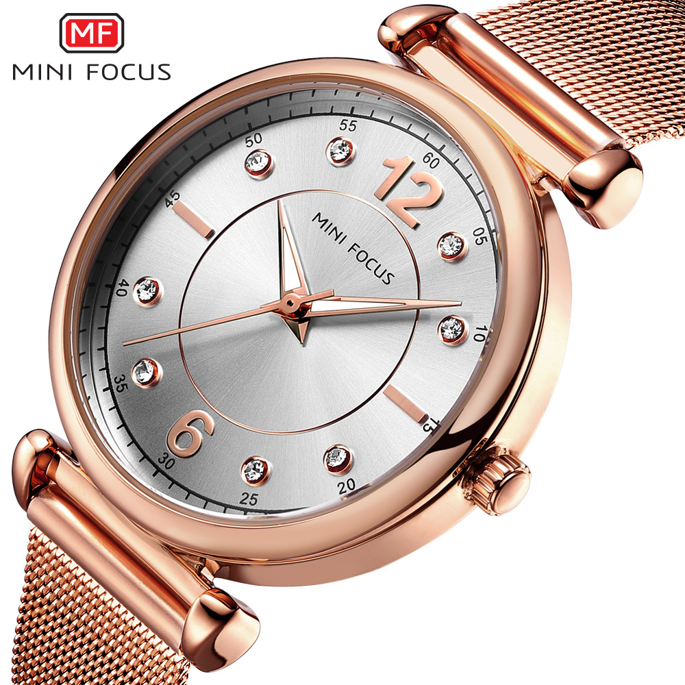 Mini Focus 0177L Hot Selling Woman Casual Watch Alloy Case Japan Movement Waterproof Quartz Watch, As the picture