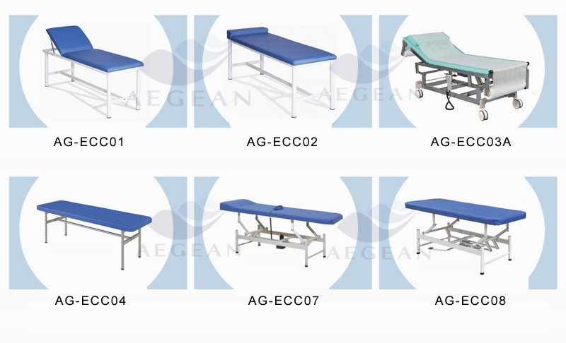 AG-ECC01 economic hospital medical couch adjustable height examination table