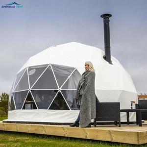 3m-50m Customized Luxury Geodesic Glamping Party Dome Tent For Outdoor