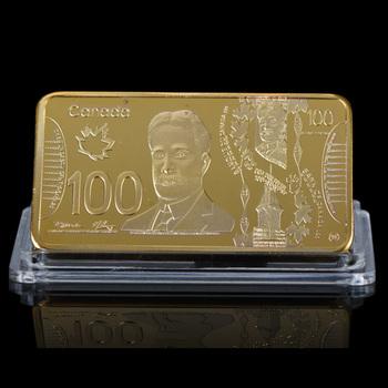 Wr 100 Kanada Doları Kalite 24 K Altın Kaplama çubuk Metal El