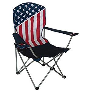 HGT International American Flag Folding Camping Chair