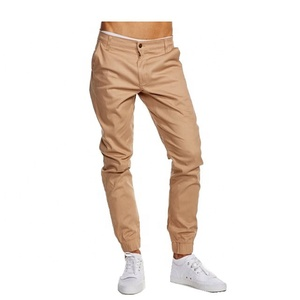 Custom khaki Joggers Pants Twill Cotton Wholesale Blank Jogger Pants Men Chino Jogger Pants