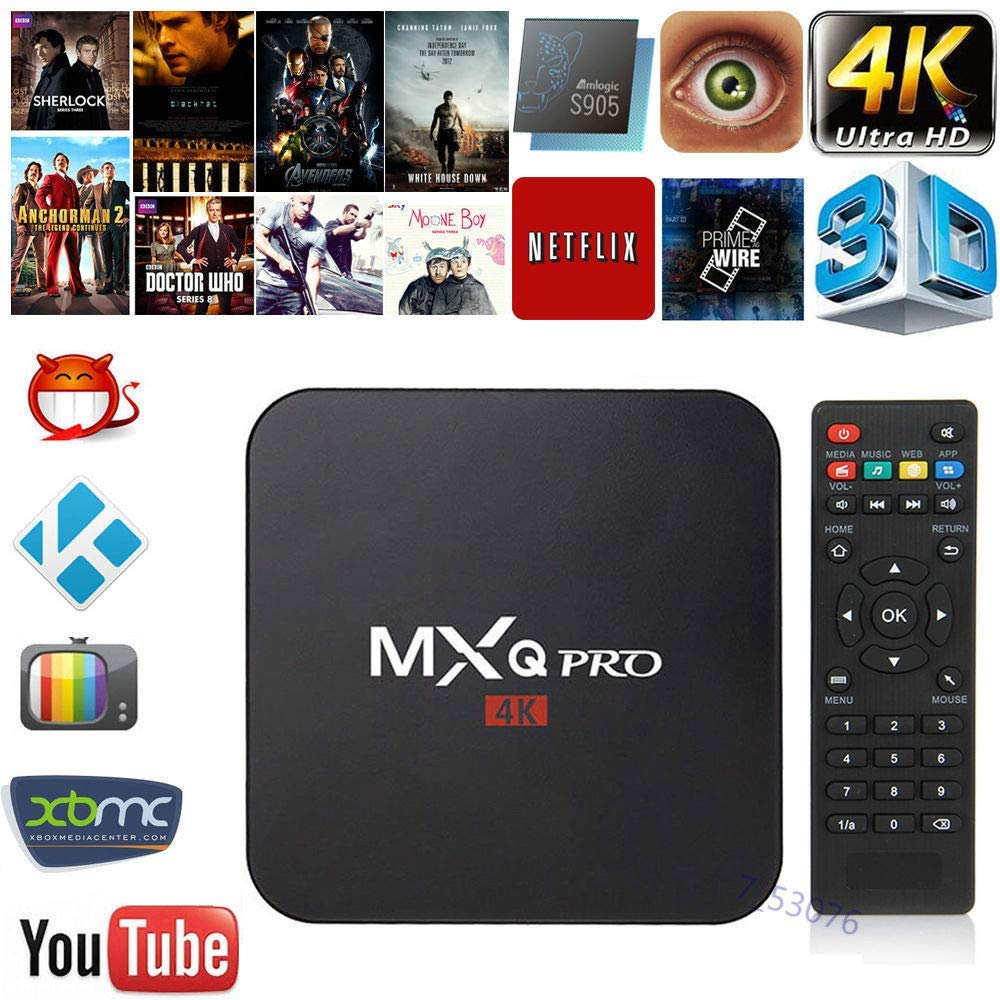 Mocei TV Box Android 7.1 Quad Core Smart 1080P HDMI WiFi KODI 17.6 MXQ Pro 4K 3D 64Bit