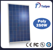 Max Voltage Output 30.5V Poly Cells 250W Sun Panel Solar With TPT Back Cover