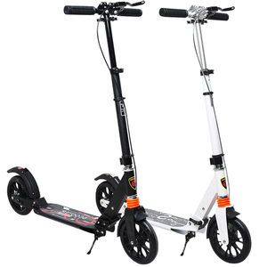 HOT White/Black Euro Style Foldable Adult Kick Scooter