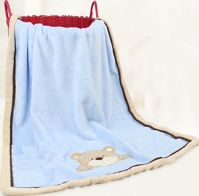 micro corail couverture polaire pour b b avec lapin brod couvertures id de produit 60087487569. Black Bedroom Furniture Sets. Home Design Ideas