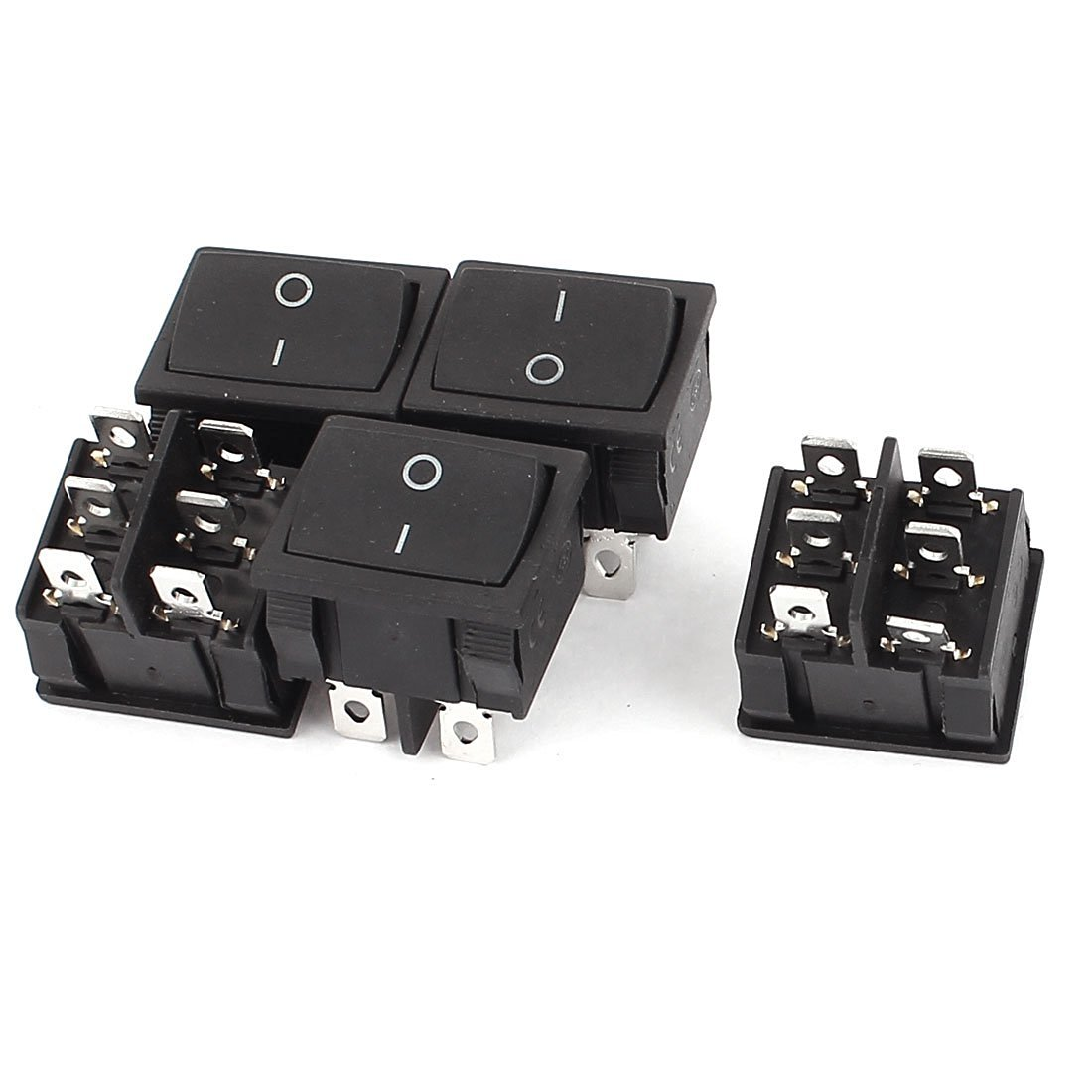 uxcell 5Pcs 250V/6A 125V/10A AC 6Pins On-Off DPDT lachting Boat Rocker Switch