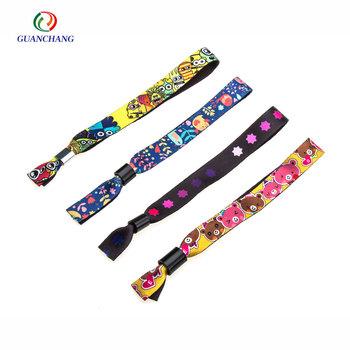 a buon mercato poliestere personalizzate braccialetti tessuto festa