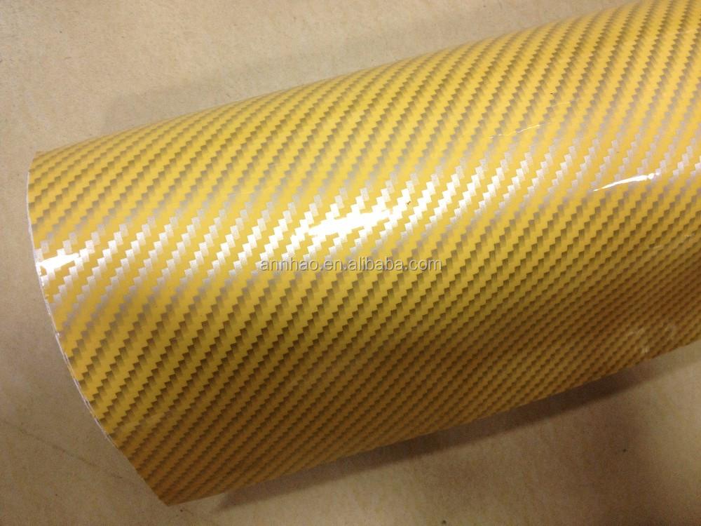 Annhao 1.52*28 M Car Body Wrapping 2D In Fibra di Carbonio Adesivo di Carta