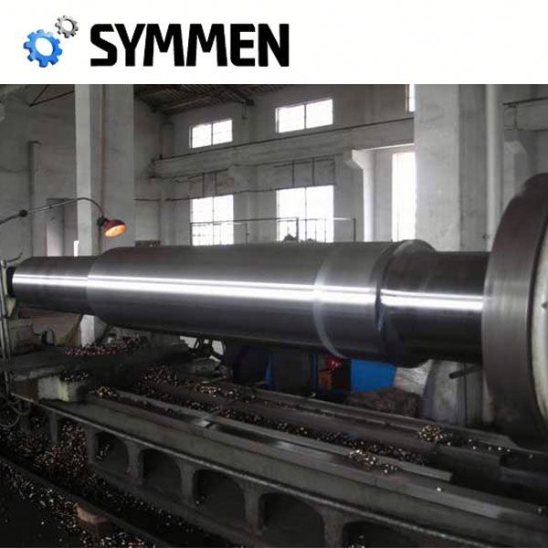 china customized cold forging steel plain large gear shaft with 10mm-195mm length