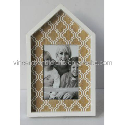 Old church style wooden photo frame