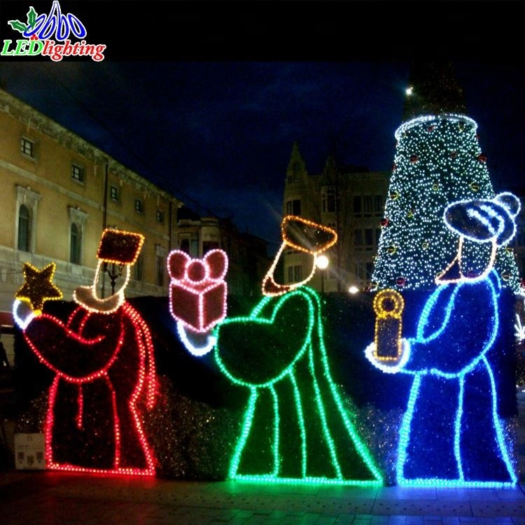 Led Jesus Scene Nativity Christmas Motif Rope Lights - Buy Led Jesus ...