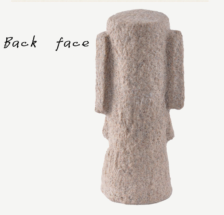 Classic Shots Easter Island Statues Easter Gifts Creative Household  Decoration Fine Sandstone Polished Crafts - us64 7a012fe895