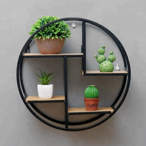 new product ideas wall mounted round iron shelf for home decor