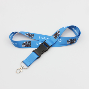Hot sale custom sublimation printed football team nfl lanyard with detachable buckle