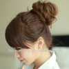 2014 fashionable light brown curly hair bun