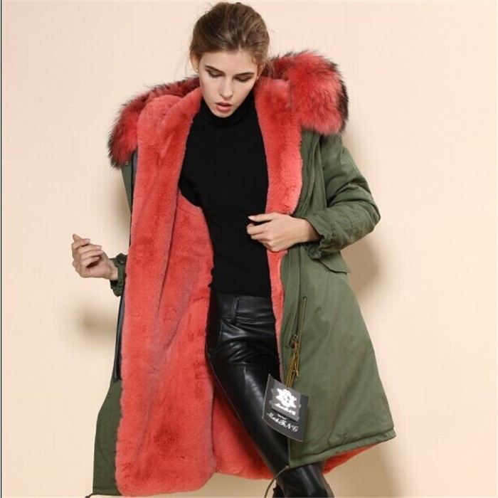 2017 Wholesale Womens Military Green Long Parka Winter Watermalon ...