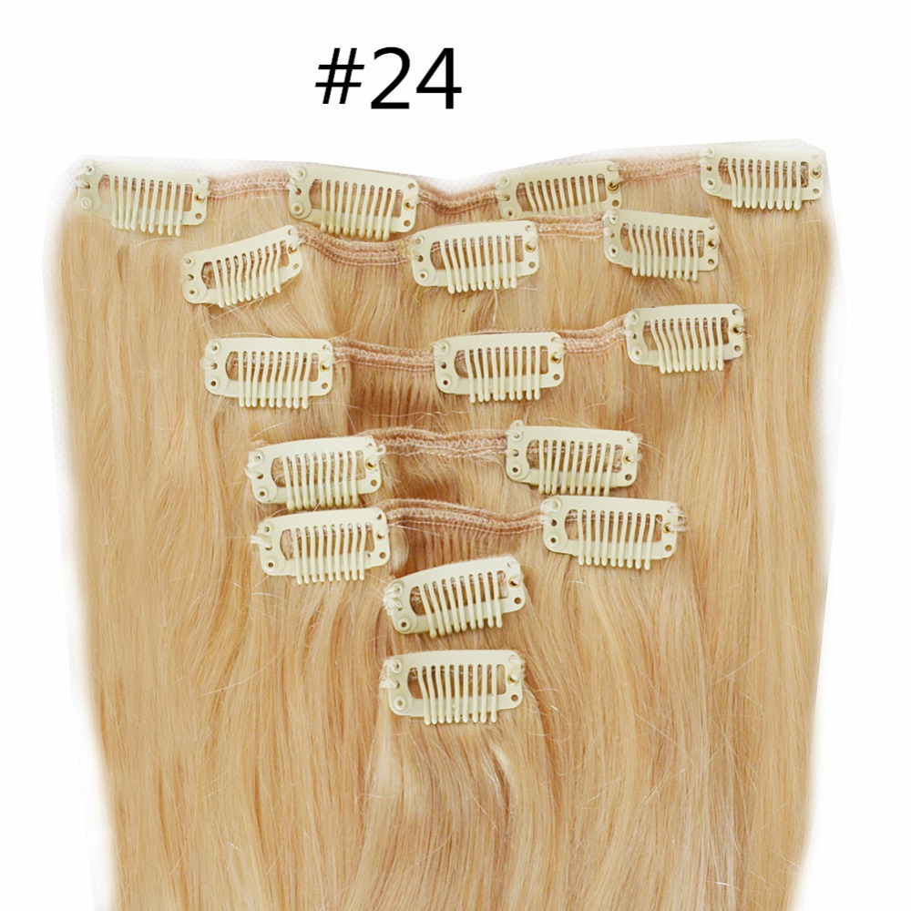 Double drawn clip in Malaysian remy hair extensions 7 piece