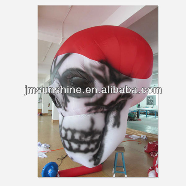 advertisement inflatable skull replica balloon / inflatable skull replica for helloween