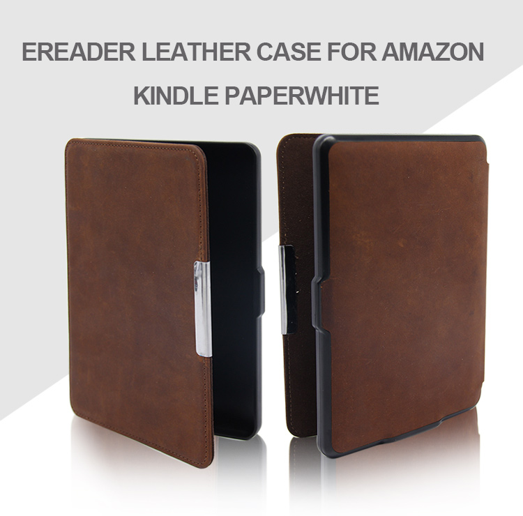 "2019Hot selling Anti-shock Protective 6"" Ereader Leather Cover Case For Amazon Kindle Paperwhite"
