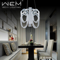 Zhongshan led crystal home chandelier 30W hanging pendant light