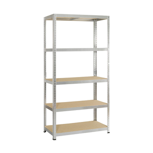 Heavy duty metal 5 tier adjustable steel shelving storage rack shelves