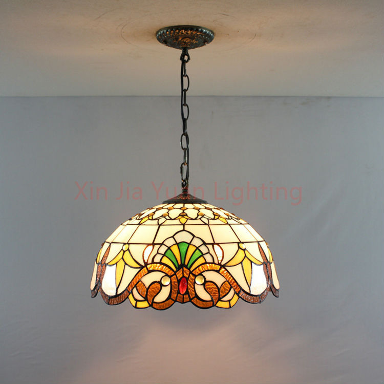 "16"" Tiffany Style Stained Glass Pendant Lights Bronze 2"