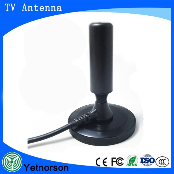 Wireless indoor hdtv stick antenna with magnetic stand High Gain Indoor Dvb-t Dvb-t2 Vhf Uhf HD 1080P Digital Tv Antenna