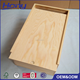 Large Size Sliding Lid Wooden Gift Storage Box Wholesale with Opening Groove