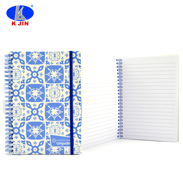 Full Color Printing A5 Spiral Diary Notebook With Elastic Band