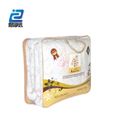 Clear pvc plastic bag with zipper closure blanket packaging bag