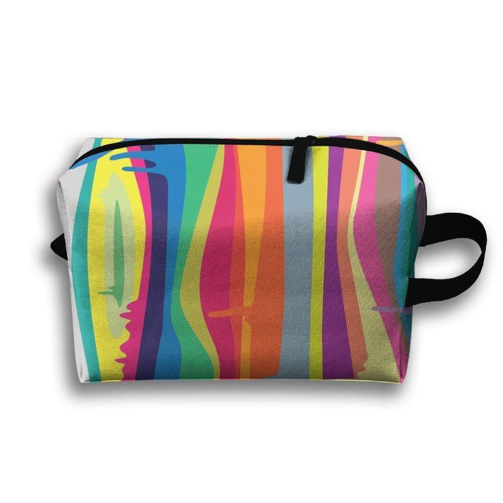 AHOMY Canvas Sports Gym Bag Striped Plaid Checkered Travel Shoulder Bag
