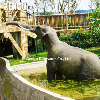 Theme park animatronic elephant for life size figurines
