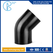 Mechanical Parts & Fabrication Services pn16 hdpe siphonic pipe fitting 45 degree elbow for drainage pipes
