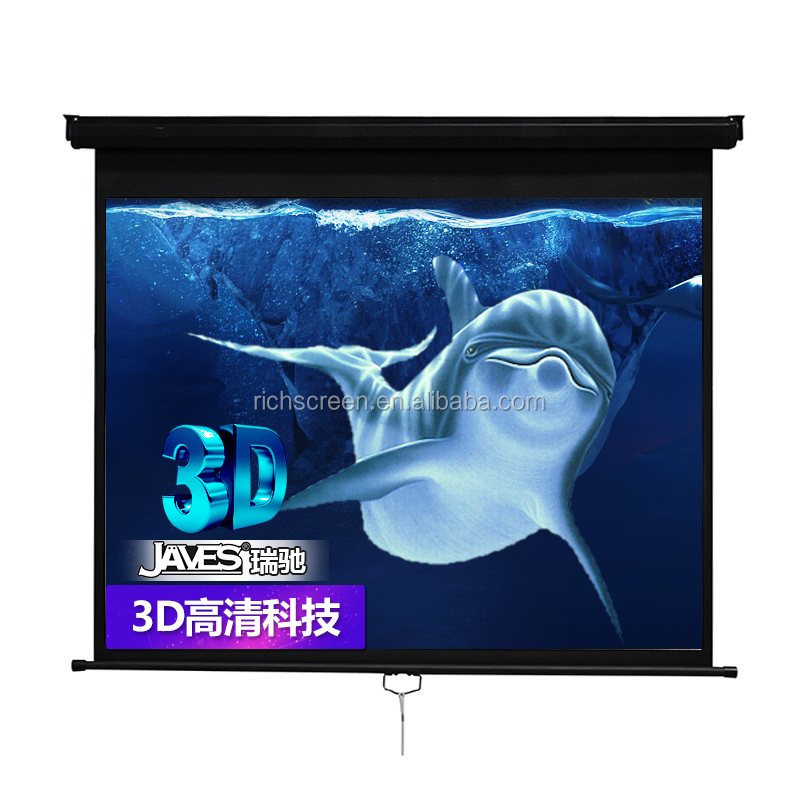 "Manual Pull Down Projection Screen Wall Projector Screen 180x180cm 100""(4:3) 100""(16:9)"