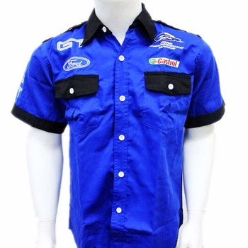 Custom made auto repair workwear mechanic shirt for men for Mechanic shirts with logo