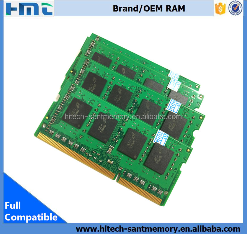 ETT chips 1600D3S11/8G ram memory kit 1.5v ddr3 8gb notebook 1600 mhz
