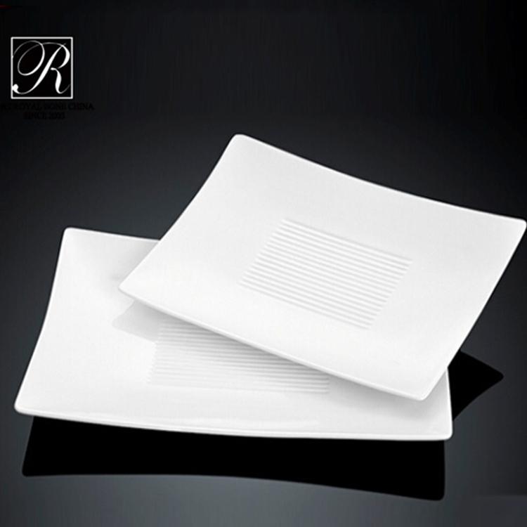 royal ware white ceramic plates porcelain rectangular plates restaurant dinner plates