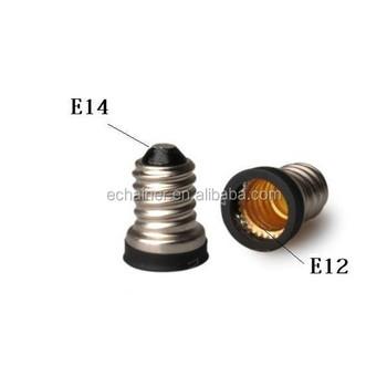 E14 To E12 Base Led Light Bulb Lamp Adapter Holder Extend Socket ...