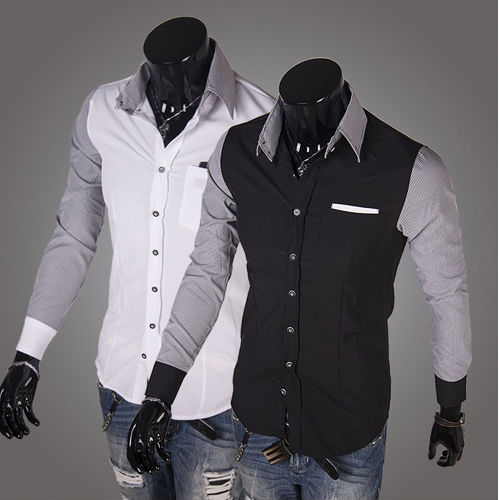 Latest Shirt For Man 100% Cotton Luxury Long Sleeve Dress Casual ...